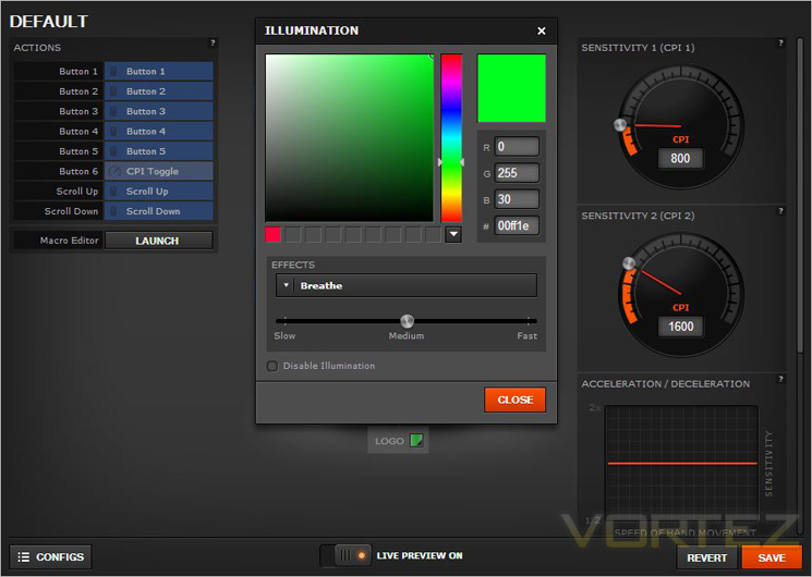 SteelSeries Rival Review - Software