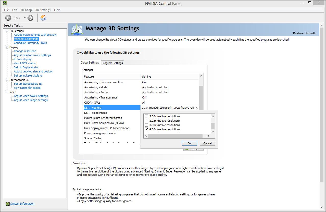 NVIDIA GeForce 347 52 Performance Analysis - Nvidia DSR