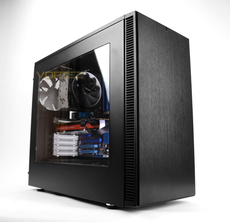 Fractal Design Define S Black Silent ATX Midtower Computer Case
