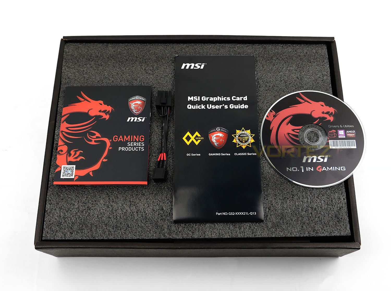 MSI R9 390X GAMING 8G Review - Packaging & Bundle