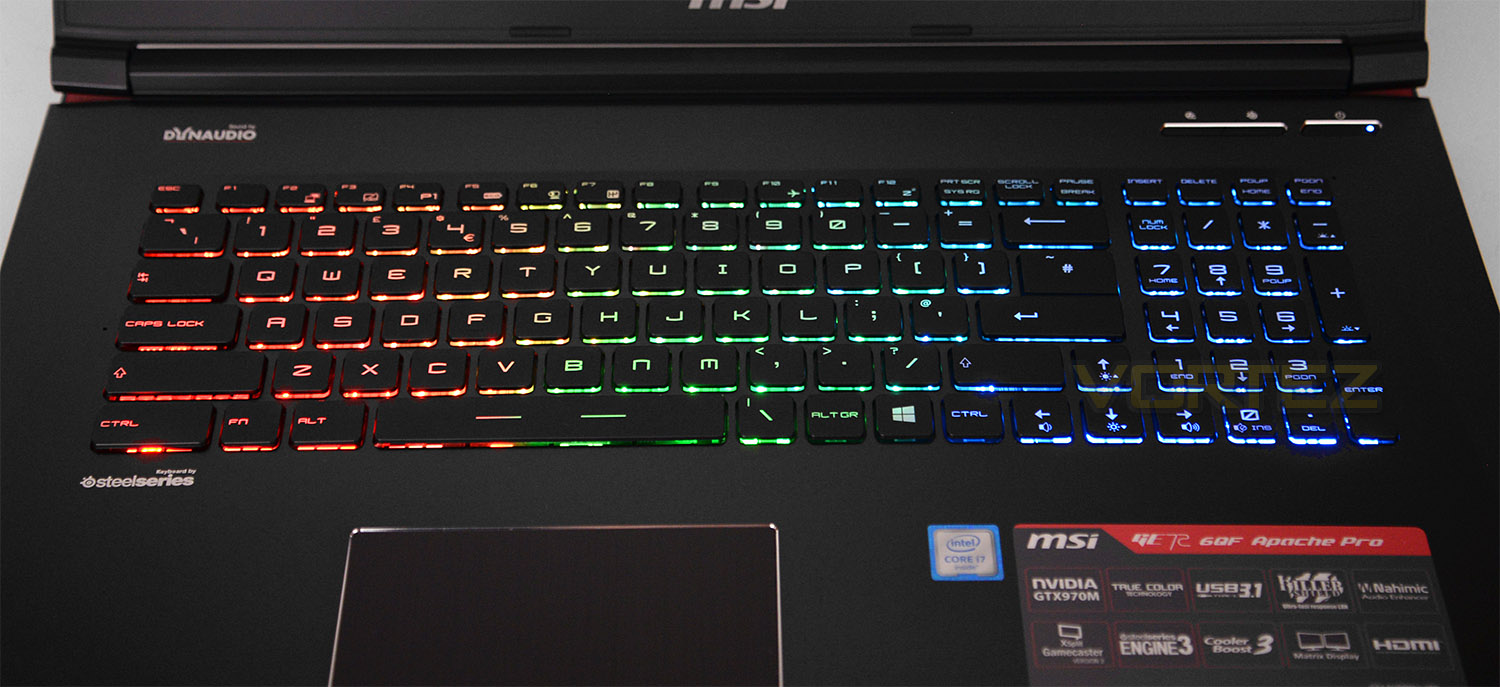 Msi Ge72 6qf Apache Pro Review Closer Look Continued