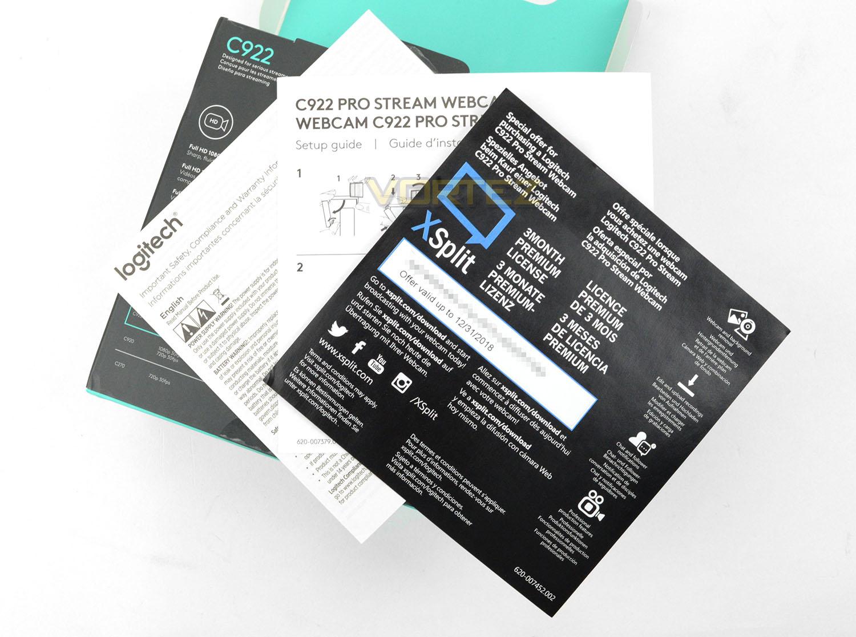 Logitech C922 Review - Packaging & Bundle