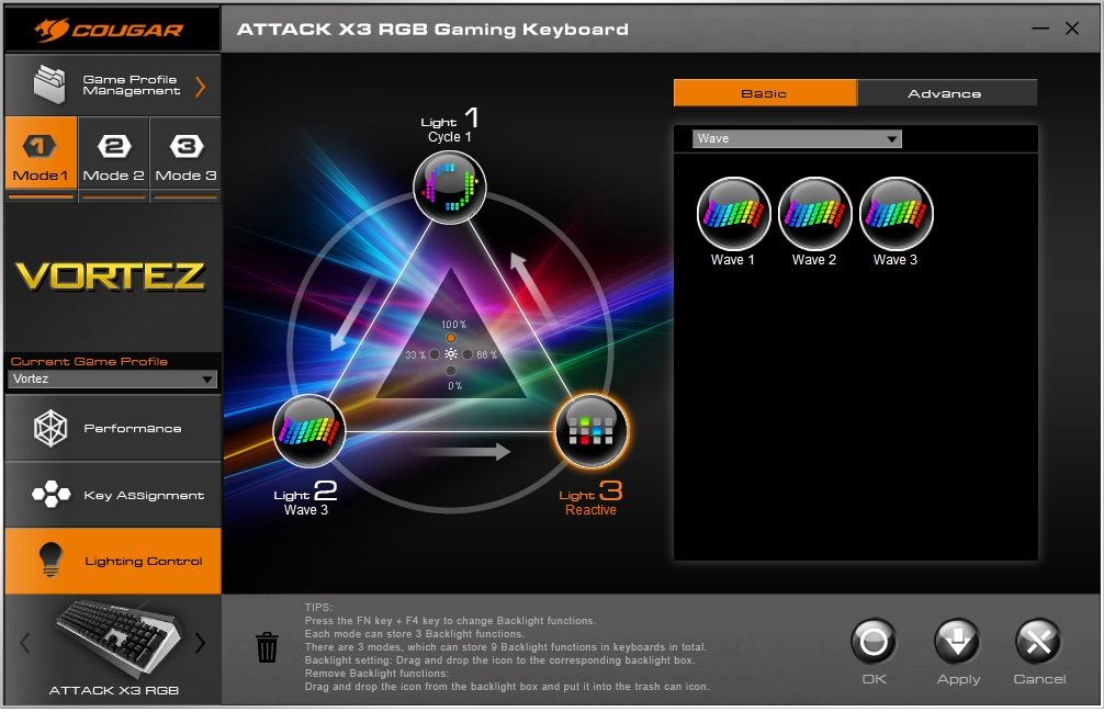 Cougar Attack X3 RGB Review - Software & Lighting