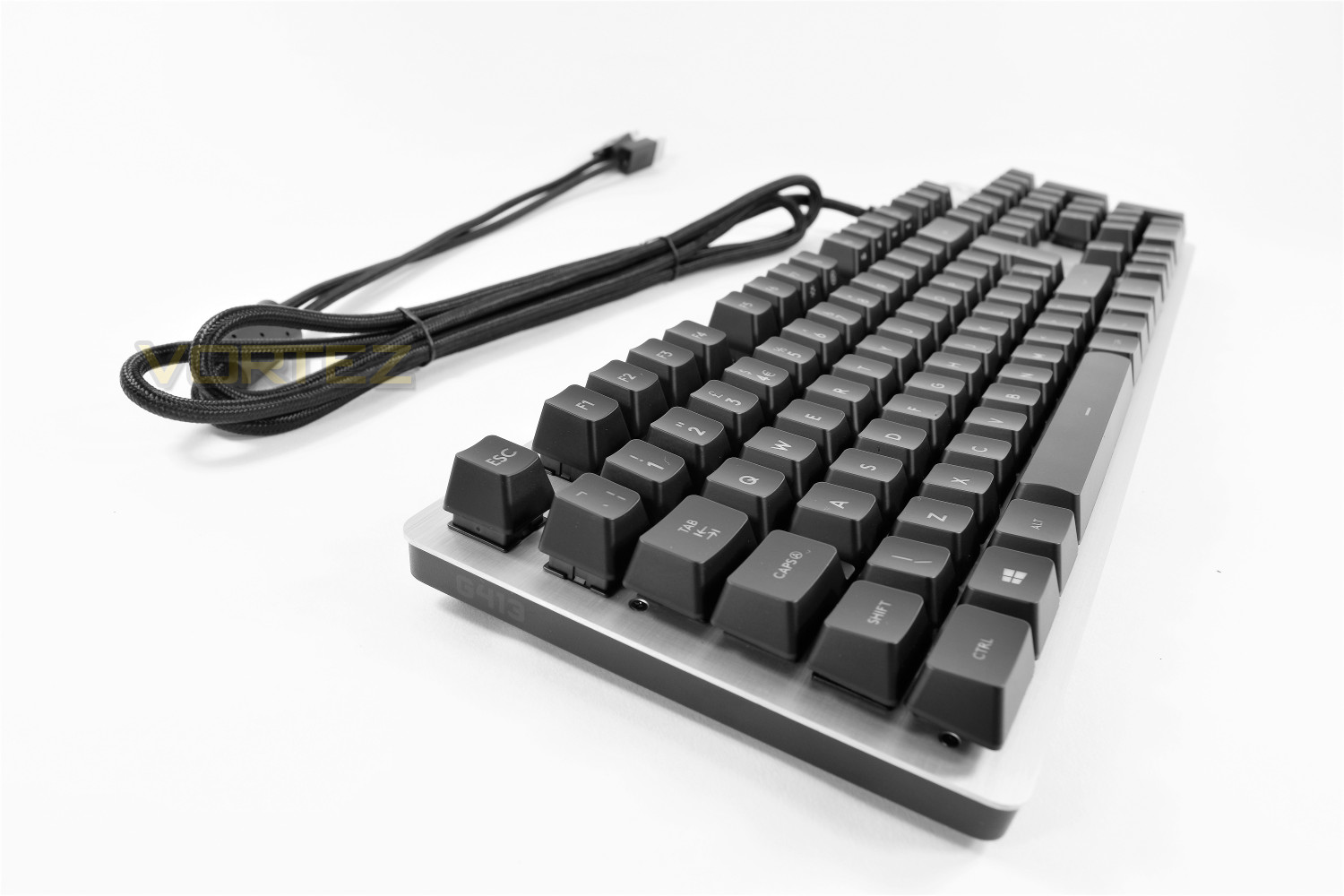 Logitech G413 Review Closer Look Carbon Mechanical Backlit Gaming Keyboard The Top Right Of Traditionally Home To A Trio Led Indicators Is Little Different On This Area Sees Placement Only Two