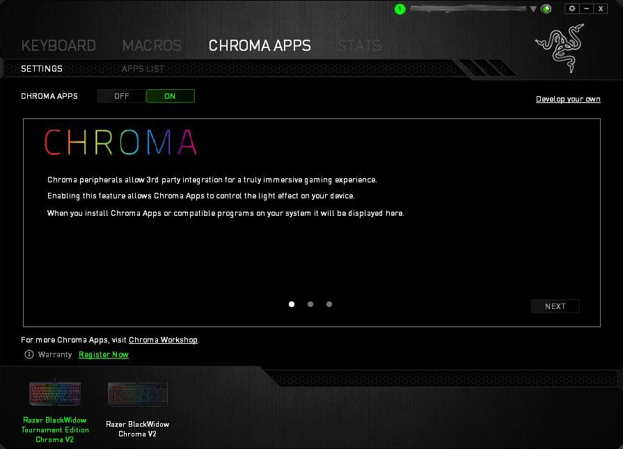 Razer Blackwidow Tournament Edition Chroma V2 Review - Software