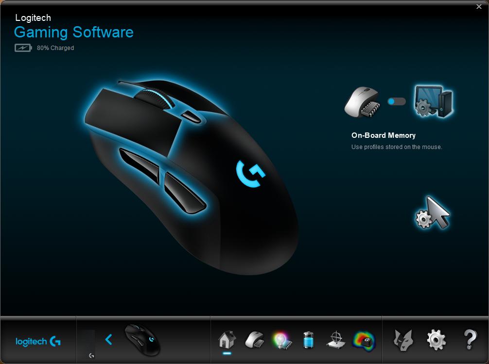 Logitech G703 Review - Software