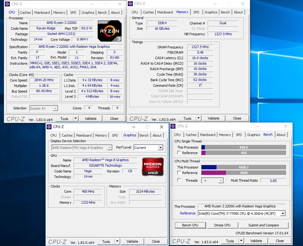 AMD RYZEN 3 2200G and RYZEN 5 2400G Review - Temperatures