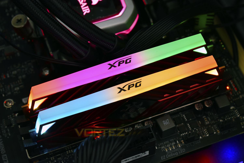 XPG Spectrix D41 RGB DDR4 Review - Lighting & Overclocking