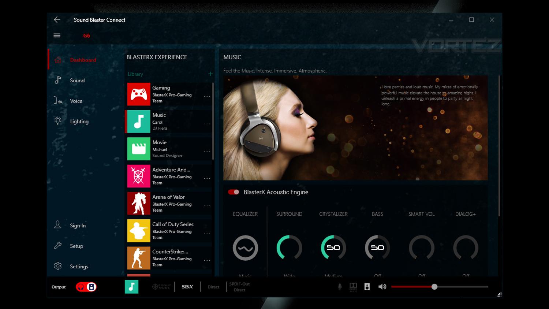Creative Sound BlasterX G6 Review - Software