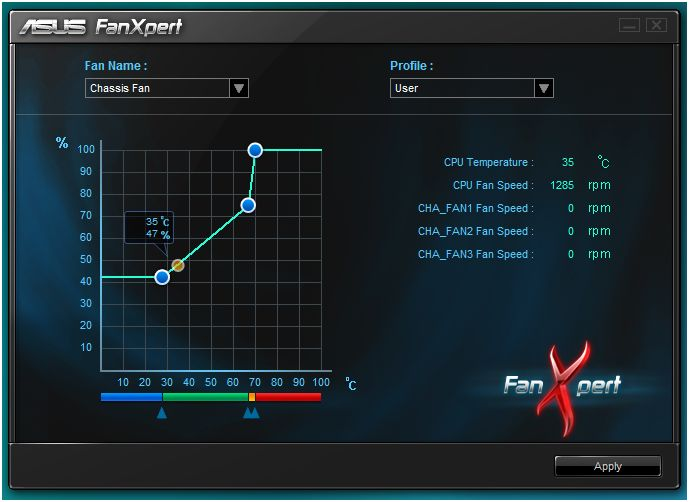asus fan speed control software