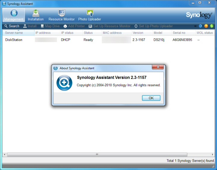 Synology DiskStation DS210j Review - Software disk and DSM 2 3 install
