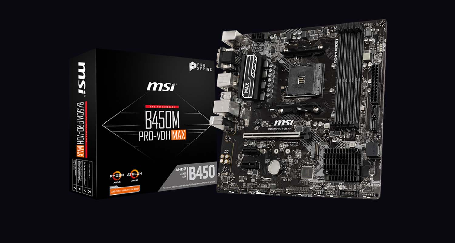 MSI Outs B450 MAX Edition Motherboards with Support For