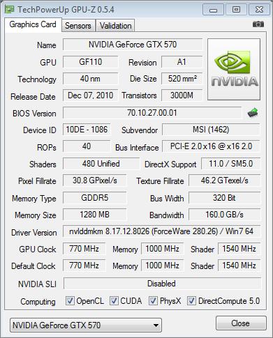 Msi n570gtx twin frozr iii power edition/oc geforce gtx 570.