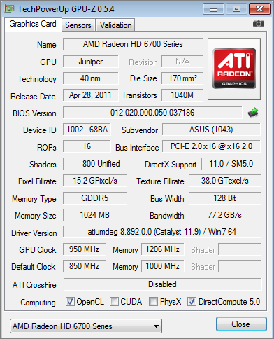 ASUS HD6770 1GB DirectCU Silent Review - Overclocking & Temperature