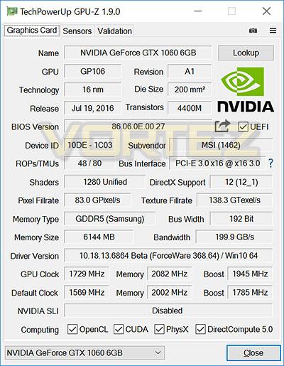 MSI GTX 1060 GAMING X Review - Overclocking