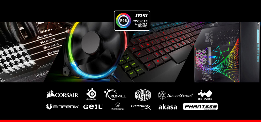MSI Mystic Light Sync Website Launched and Lists Certified Brand