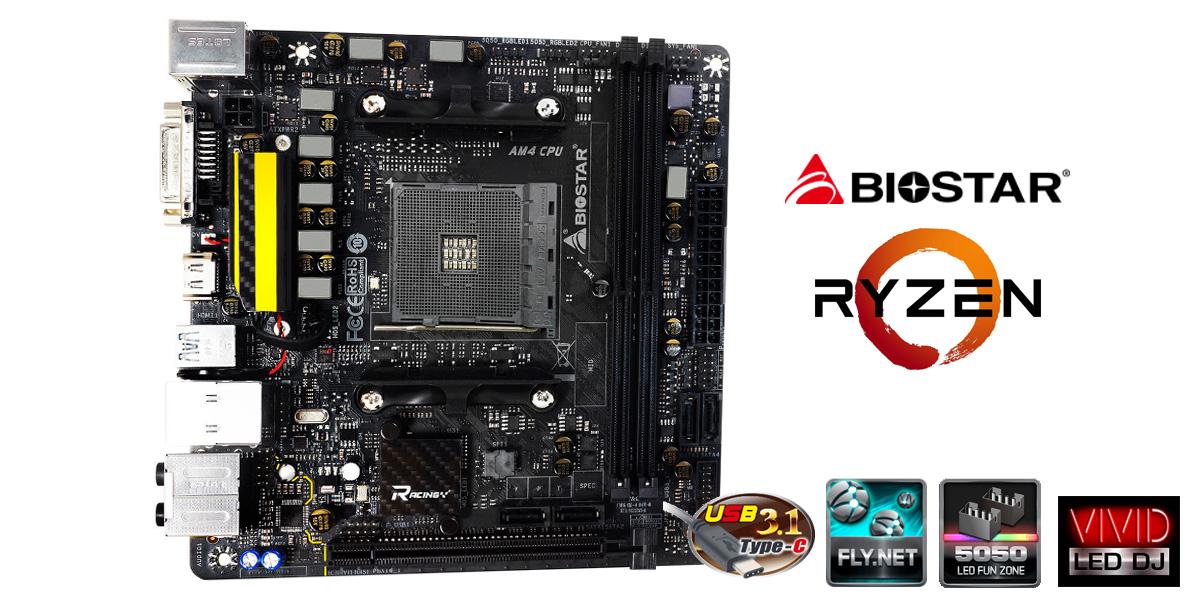 BIOSTAR RACING X370GTN and B350GTN - World's First AM4 Mini-ITX ...