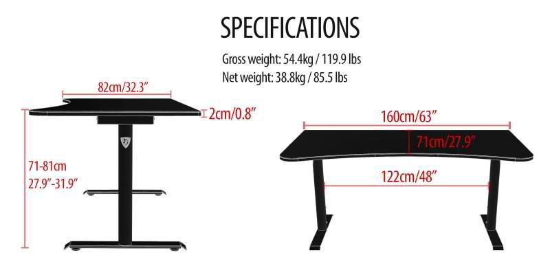 Sensational Arrozi Adds Arena Gaming Desk Pure Black Edition Short Links Chair Design For Home Short Linksinfo