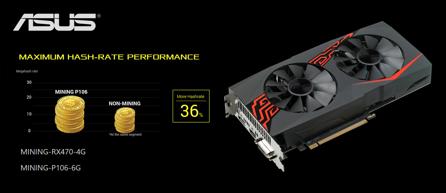 ASUS Outs Crypto-Mining Graphics: Mining RX 470 and Mining P106
