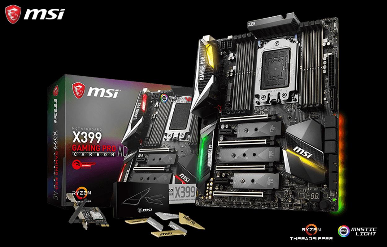 Kết quả hình ảnh cho msi x399 gaming pro carbon