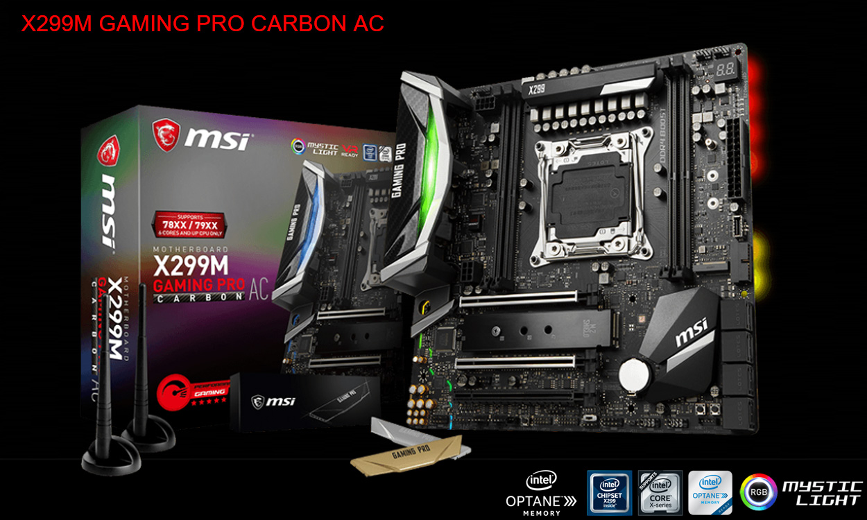 Msi Takes X299 To A Smaller Form Factor X299m Gaming Pro Carbon Ac Motherboard Intel X99a New