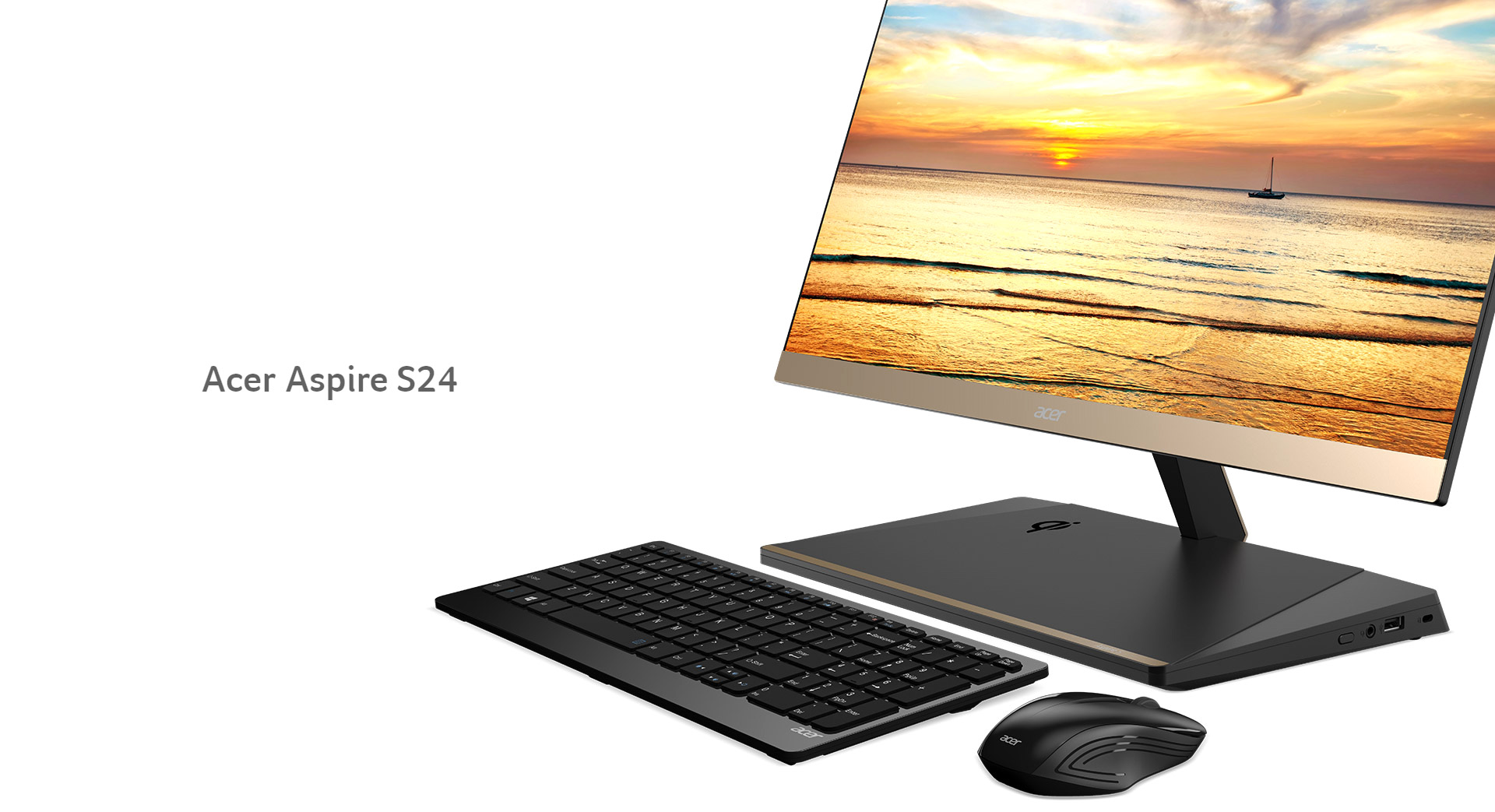 Acer Introduces Its Slimmest And Most Powerful All In One Desktop Pc At Ifa 2017 The Aspire S24 It Features A 5 97mm Ultra Thin Borderless