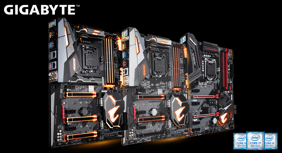 GIGABYTE Z370 AORUS Motherboards For 8th Gen Intel Core
