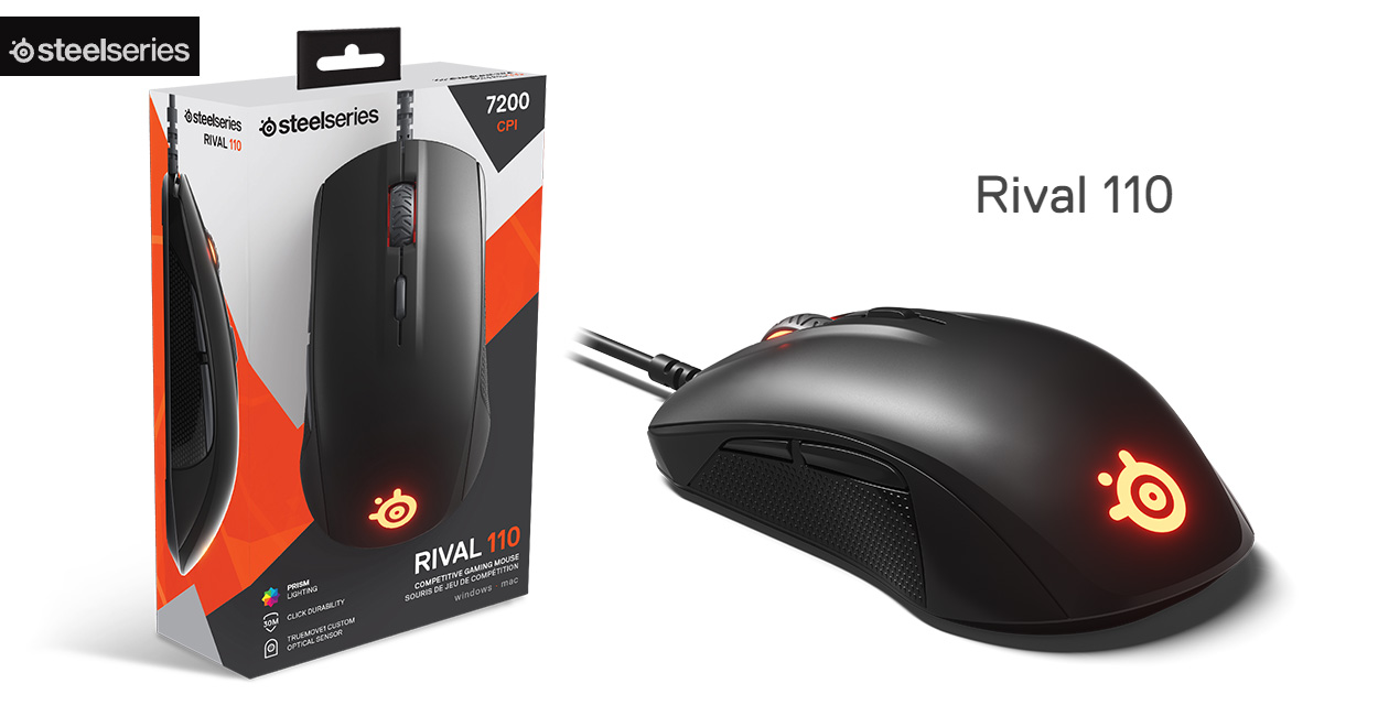 ad7d0057ca4 SteelSeries Rival 110 with Competition-Ready TrueMove1 Sensor