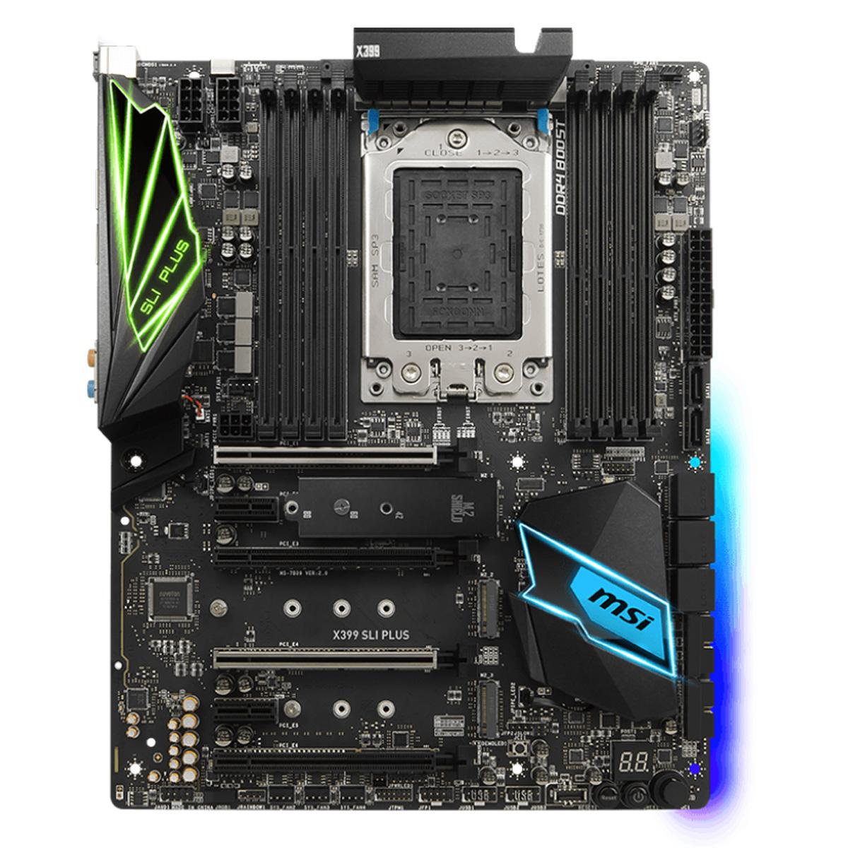 MSI X399 SLI PLUS: Optimized For Professionals