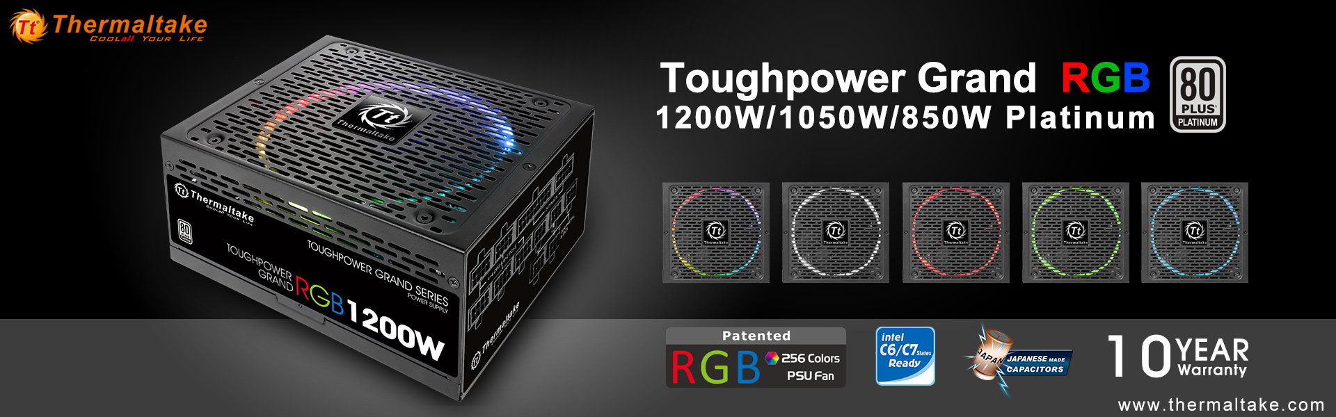 Thermaltake Add Platinum-Rated 850W+ Models To Toughpower Grand RGB ...
