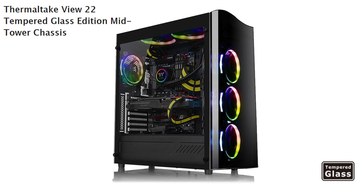 Thermaltake View 22 Tg Offers A Great Balance Of Performance And Core P90 Tempered Glass Announces The New Edition Mid Tower Chassis Featuring Elegance Large Side Panel Streamlined