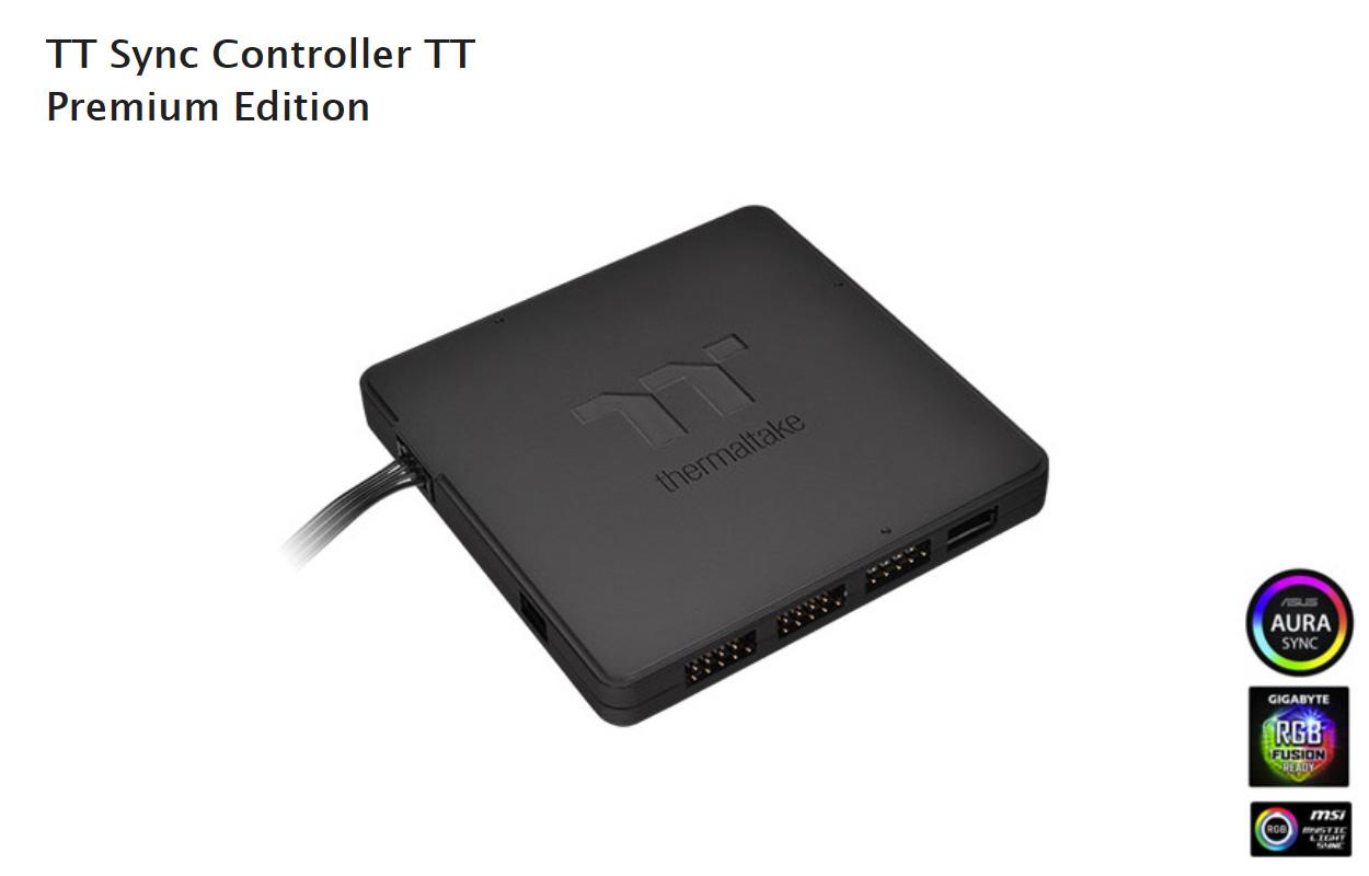 Thermaltake Intros Own RGB Controller: TT Sync Controller