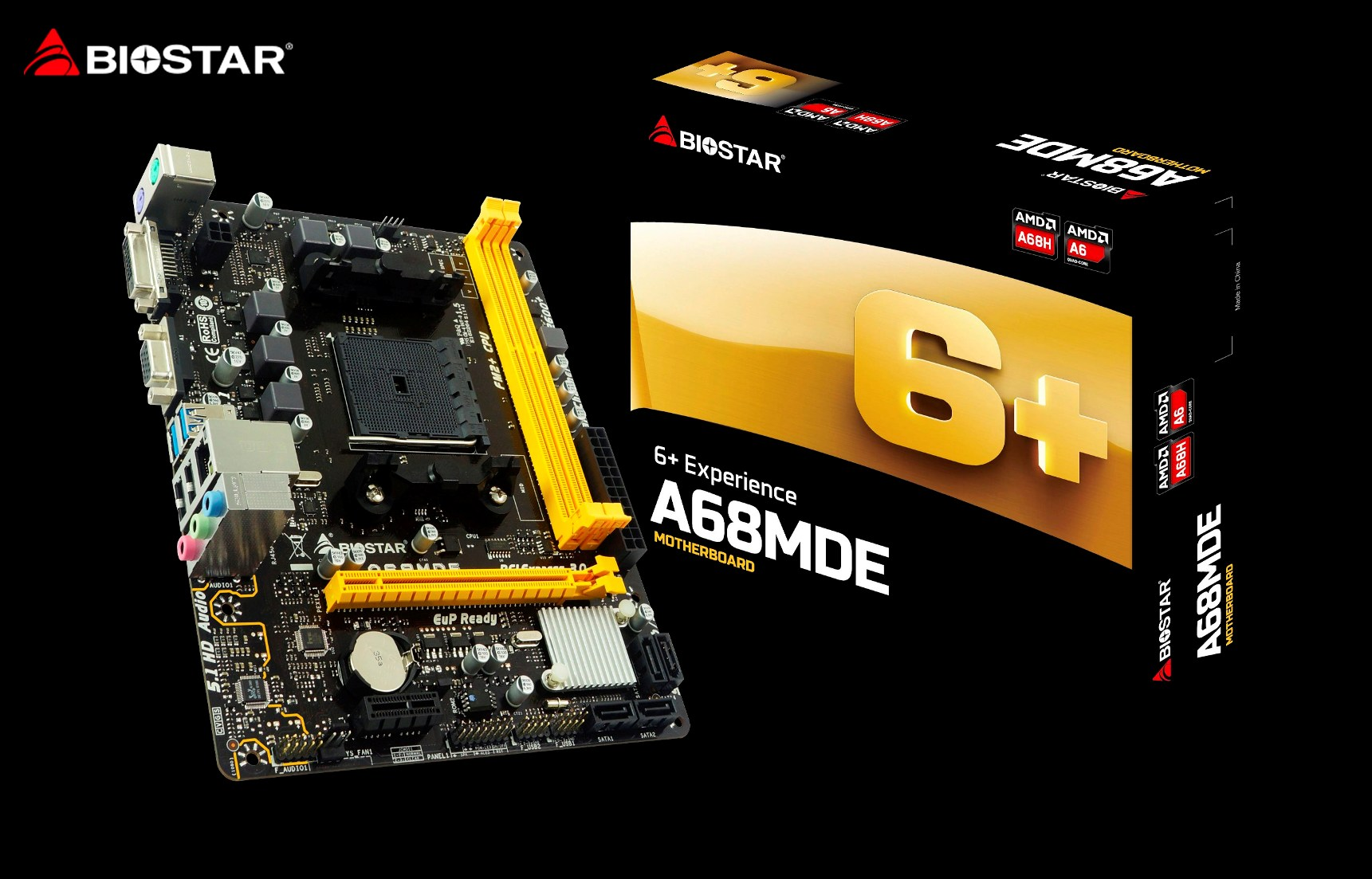 BIOSTAR Outs New A68MDE AMD FM2+ Motherboard