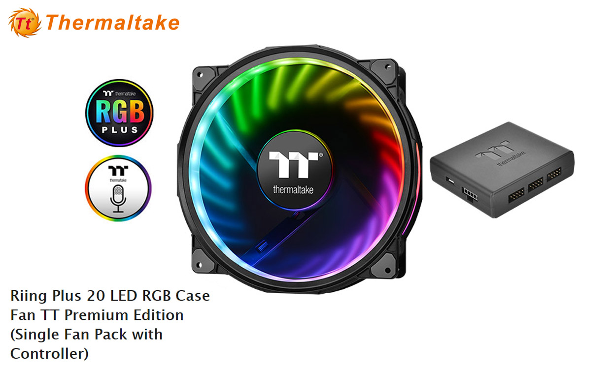 Thermaltake Completes Riing Plus Rgb Series With 200mm Fan Model 12 Led 3 Fans Pack