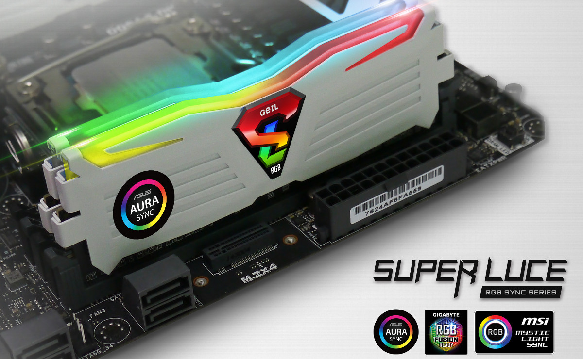 GEiL's Super Luce RGB Sync DDR4 Now Supports 3rd Party Motherboard