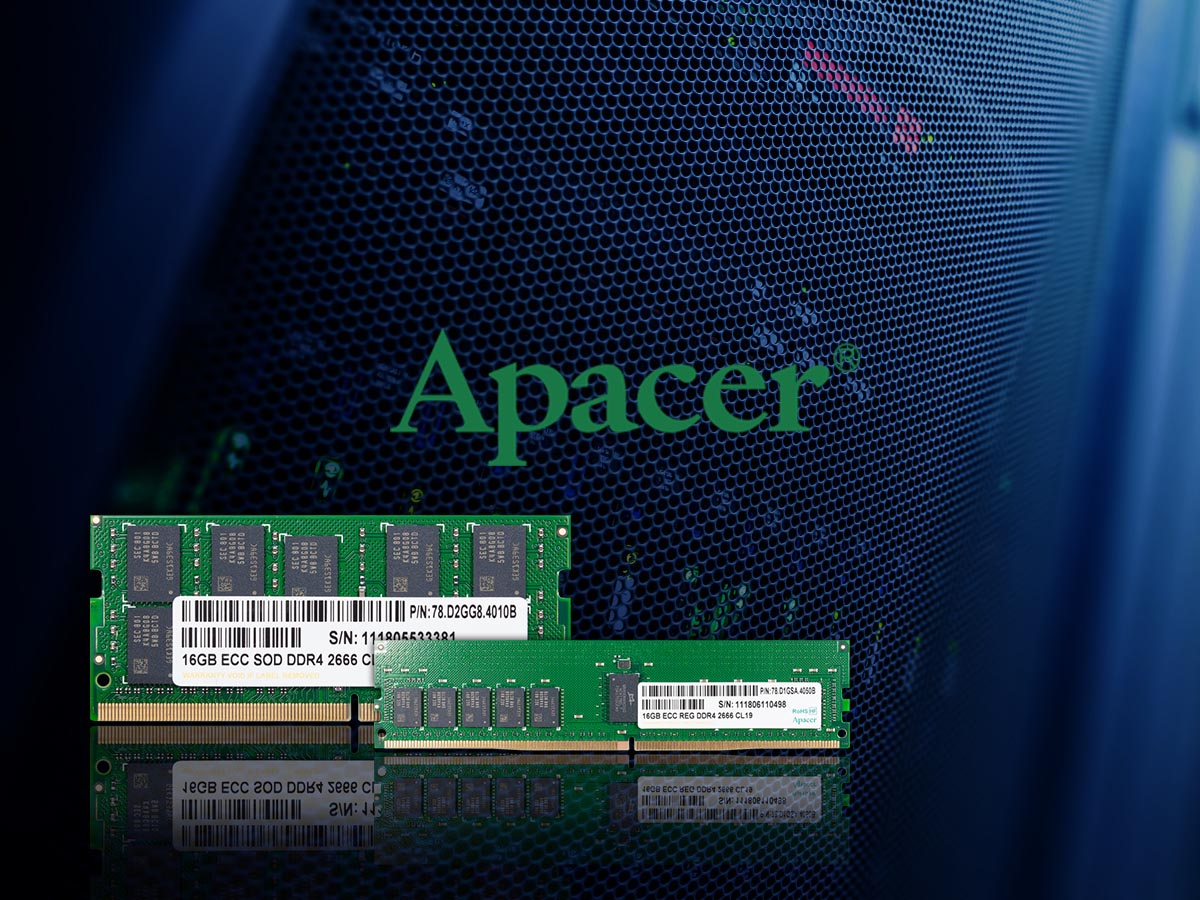 Apacer Presents DDR4-2666 Memory For Intel Purley and AMD