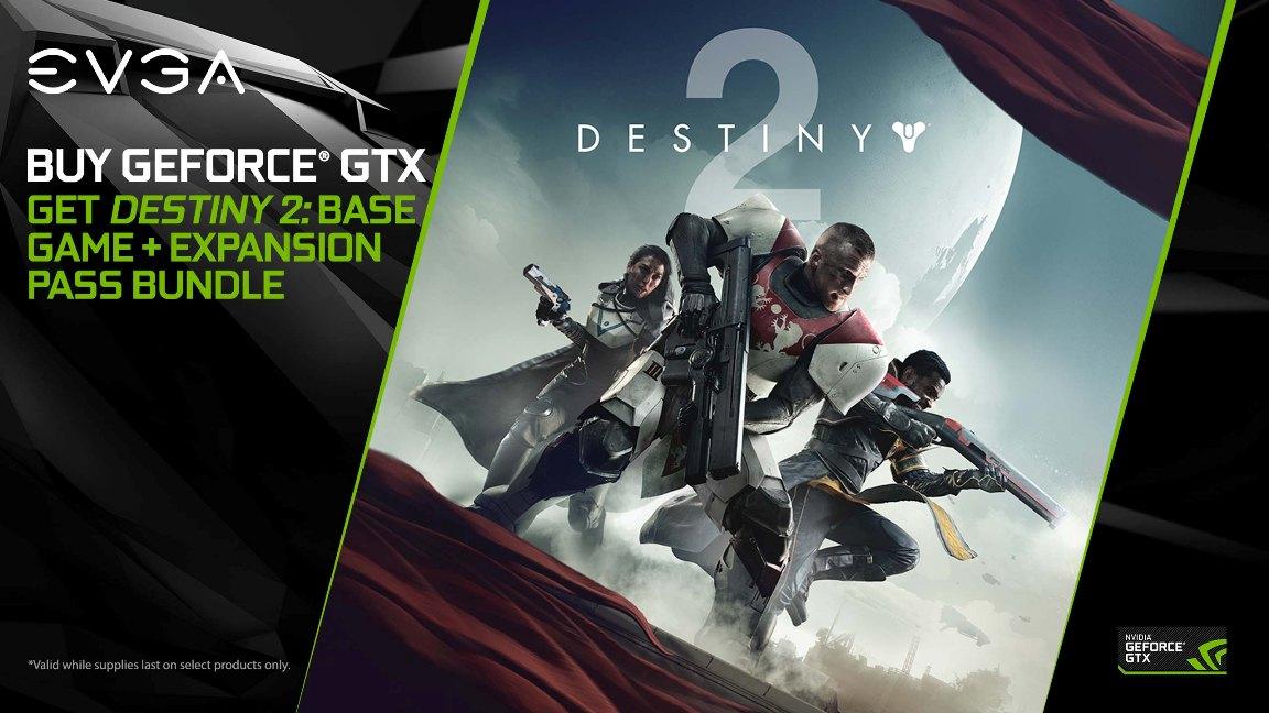 EVGA Bundles Destiny 2 Game and Expansion Pass with GTX