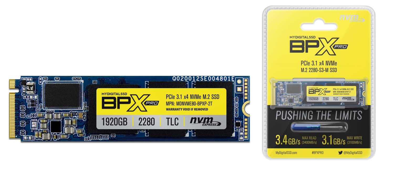 MyDigitalSSD Outs BPX Pro Series NVMe SSDs