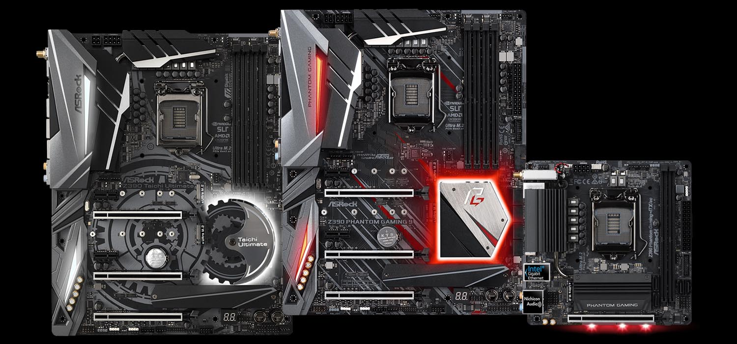 ASRock Unveils Z390 Phantom Gaming and Z390 Taichi Motherboards
