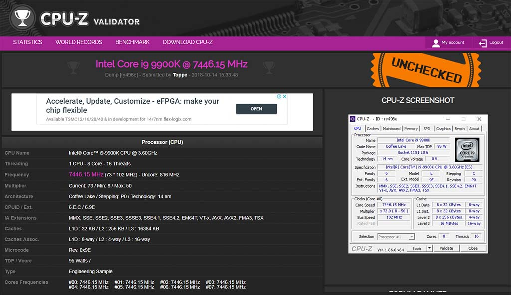 MSI MEG Z390 GODLIKE Flagship Motherboard Overclocks i9-9900K to 7 47GHz