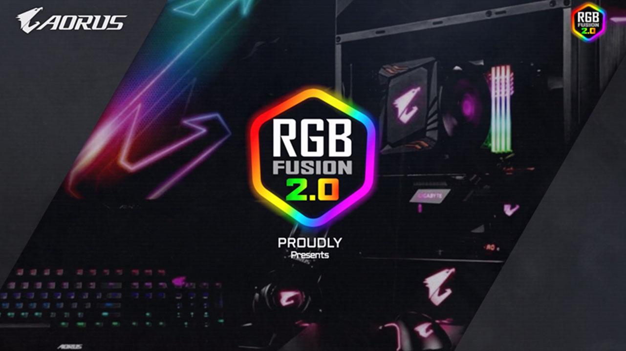 GIGABYTE Introduces RGB Fusion 2 0 RGB Lighting Control Software