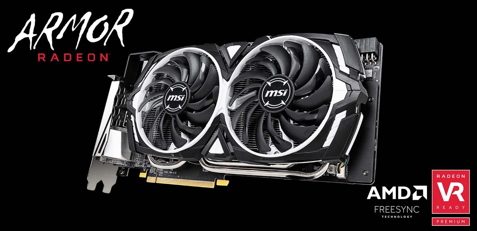 MSI Unveils Radeon RX 590 Armor Graphics Cards