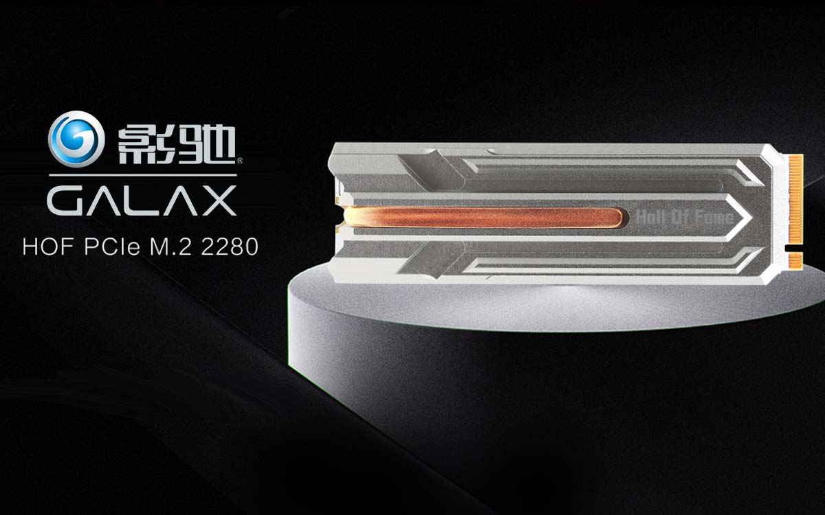GALAX Outs HOF PCIe M 2 SSD