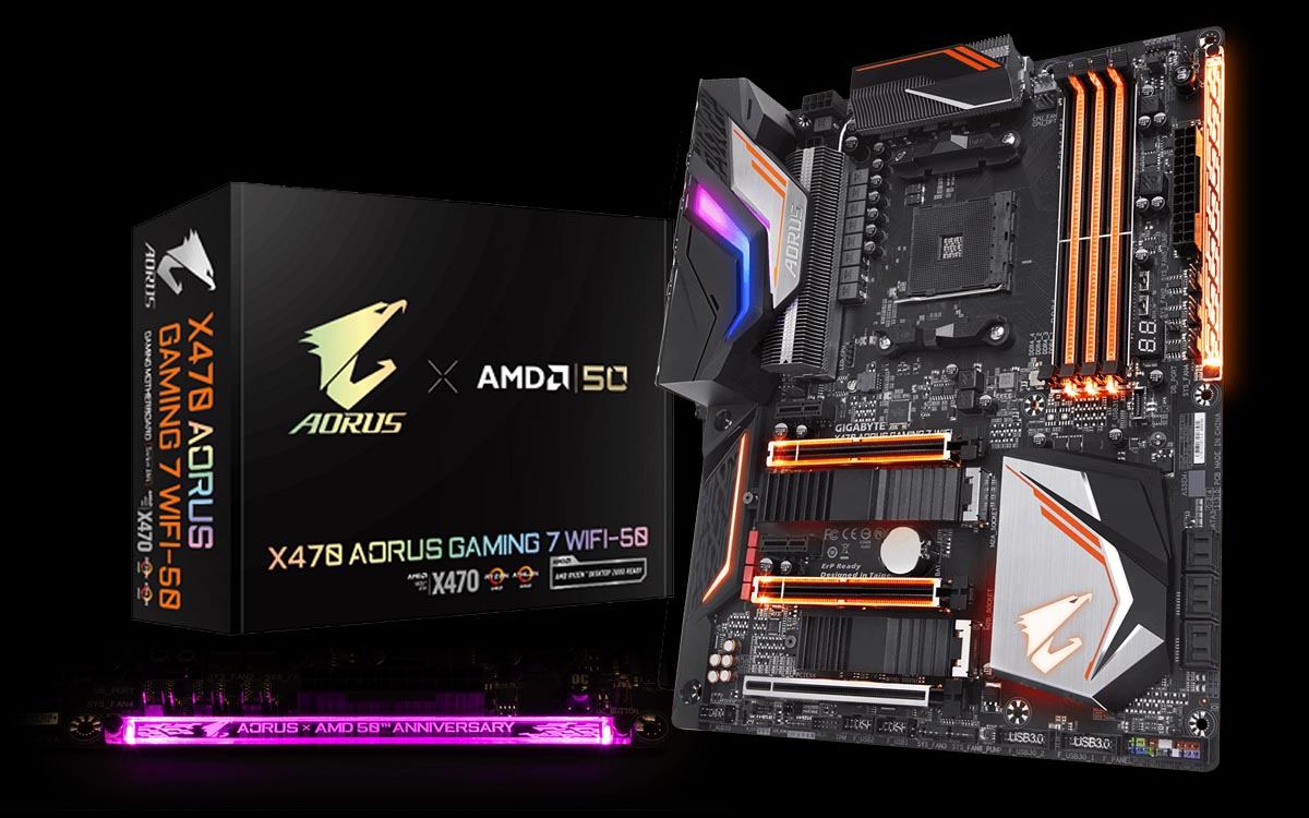 GIGABYTE Intros X470 AORUS GAMING 7 WIFI-50 For AMD's 50th