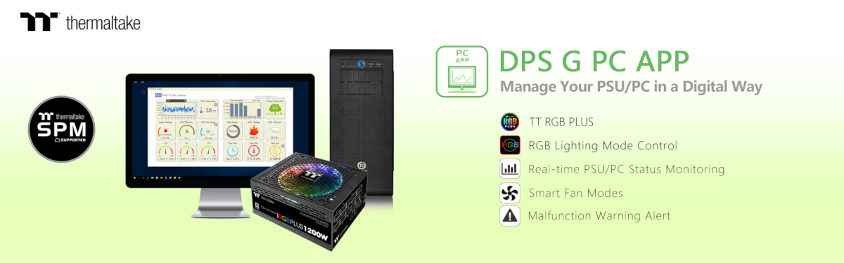Thermaltake's DPS G App Gets Updated UI & TT RGB Plus Sync Support
