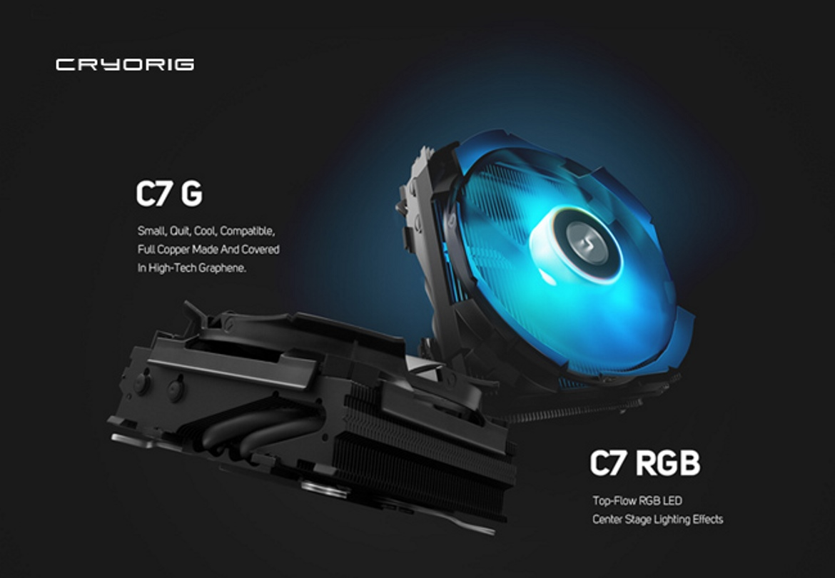 CRYORIG Presents C7 RGB and C7 G Top-Flow Coolers