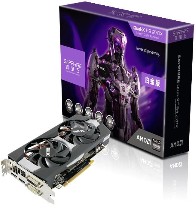 Sapphire Rolls Out Radeon R9 270X Dual-X 4 GB Graphics Card
