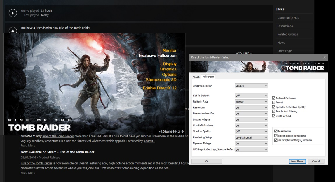 A Reddit User Found DirectX 12 Settings For The Rise Of The