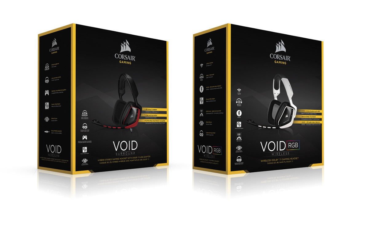 Corsair's VOID Surround and VOID Wireless RGB Now Available