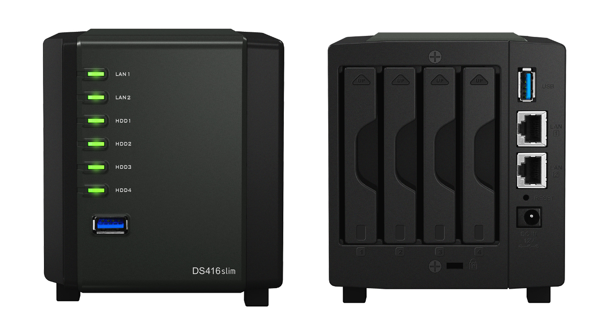 Synology S Quad 2 5 Drive Bay Ds416slim Nas Now Available